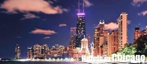 The City of Chicago by night