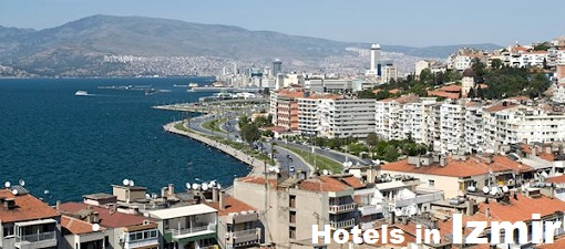 A view of the town of Izmir.
