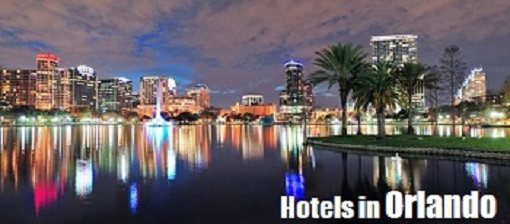The city of Orlando, Florida by night